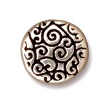 round scroll bead ANTIQUE SILVER