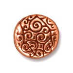 round scroll bead ANTIQUE COPPER