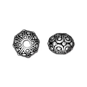 oasis round bead ANTIQUE SILVER