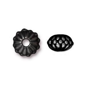 daisy bead BLACK