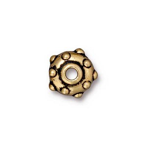 RIVET bead ANTIQUE GOLD