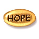 hope bead ANTIQUE GOLD