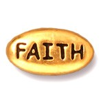 faith bead ANTIQUE GOLD