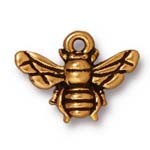 honeybee charm ANTIQUE GOLD