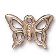 open butterfly charm RHODIUM