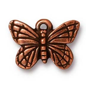 monarch butterfly charm ANTIQUE COPPER