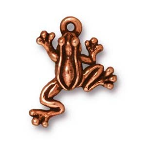leap frog charm ANTIQUE COPPER