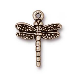 dragonfly charm ANTIQUE SILVER