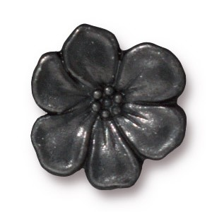apple blossom BUTTON BLACK tone