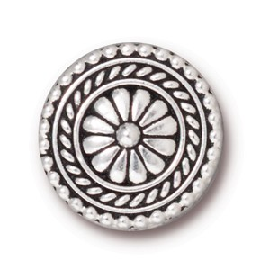 LG bali BUTTON ANTIQUE SILVER