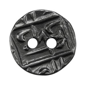 Round Coin BUTTON BLACK