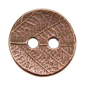 Round Leaf BUTTON ANT COPPER