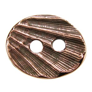 Oval Shell BUTTON ANT COPPER tone