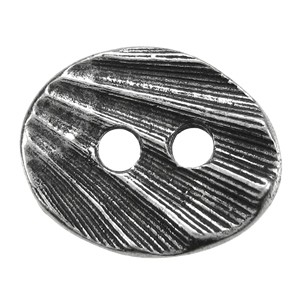 Oval Shell BUTTON PEWTER
