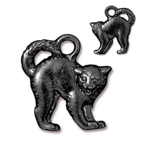 SCARY CAT charm BLACK