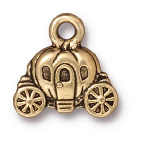 carriage charm ANTIQUE GOLD