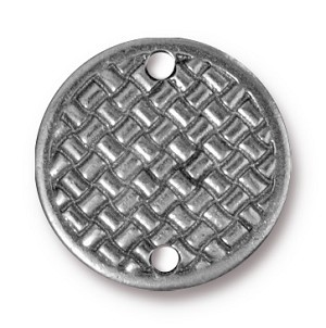 Link Woven Disc PEWTER