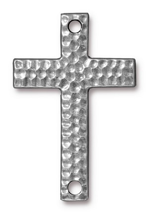 Link Hammered Cross PEWTER