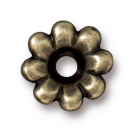 Rivetable Flower BRASS OXIDE