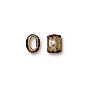 4 x 2mm barrel bead BRASS OXIDE