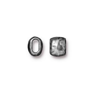 4 x 2mm barrel bead PEWTER