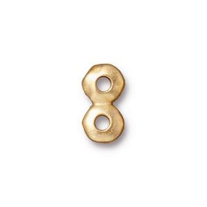 7mm 2-hole nugget bar BRIGHT GOLD