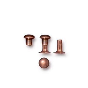 4mm Rivet Set ANT COPPER - per 10 pieces