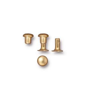 4mm Rivet Set BRIGHT GOLD - per 10 pieces
