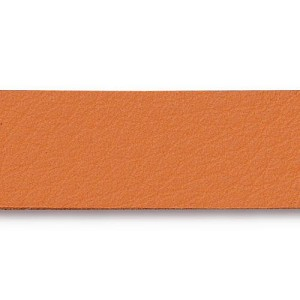Leather Strip ORANGE - per piece