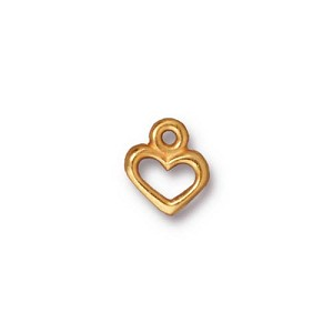 open heart charm ANTIQUE GOLD
