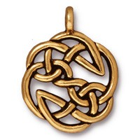 open knot pendant charm ANTIQUE GOLD