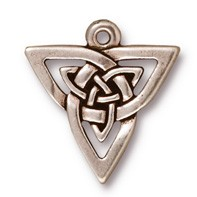 open triangle pendant charm ANTIQUE SILVER