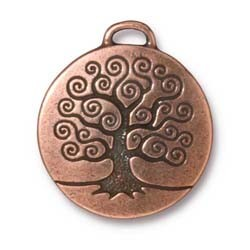 tree of life charm ANTIQUE COPPER