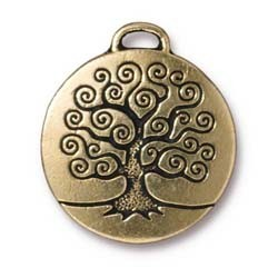 tree of life charm ANTIQUE GOLD
