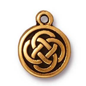 celtic round charm ANTIQUE GOLD