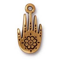 henna hand charm ANTIQUE GOLD
