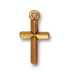 classic cross charm ANTIQUE GOLD