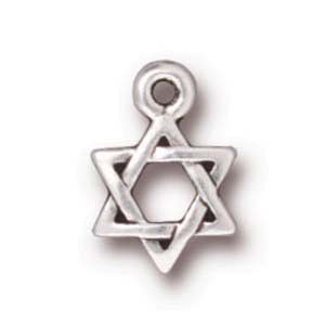 small star of David charm ANTIQUE SILVER