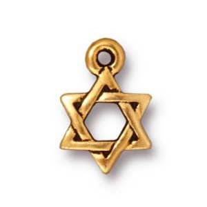 small star of David charm ANTIQUE GOLD