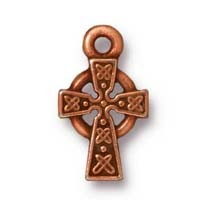 small celtic cross charm ANTIQUE COPPER