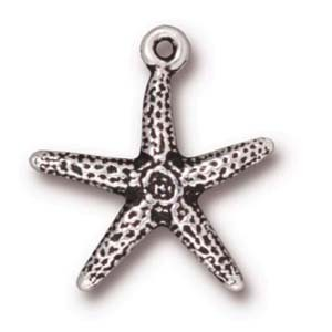 seastar charm ANTIQUE SILVER