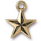 nautical star charm ANTIQUE GOLD