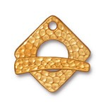 hammertone square toggle ANTIQUE GOLD
