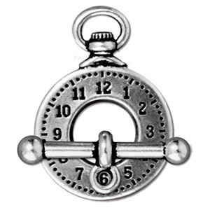 clock toggle clasp ANTIQUE SILVER