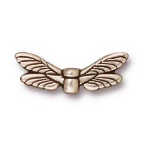 dragonfly wings bead SILVER
