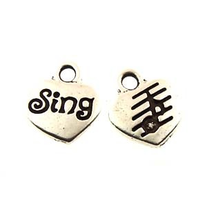 sing GLUE-IN charm ANTIQUE SILVER