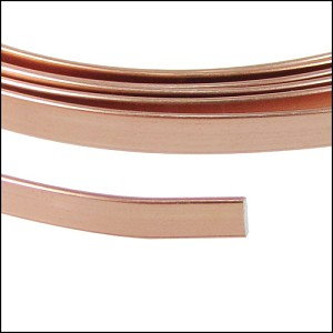 Flat aluminum wire 5mm COPPER - per 2 meters