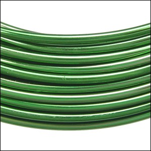 aluminum wire 2mm KELLY GREEN