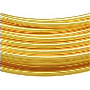 aluminum wire 2mm PALE GOLD